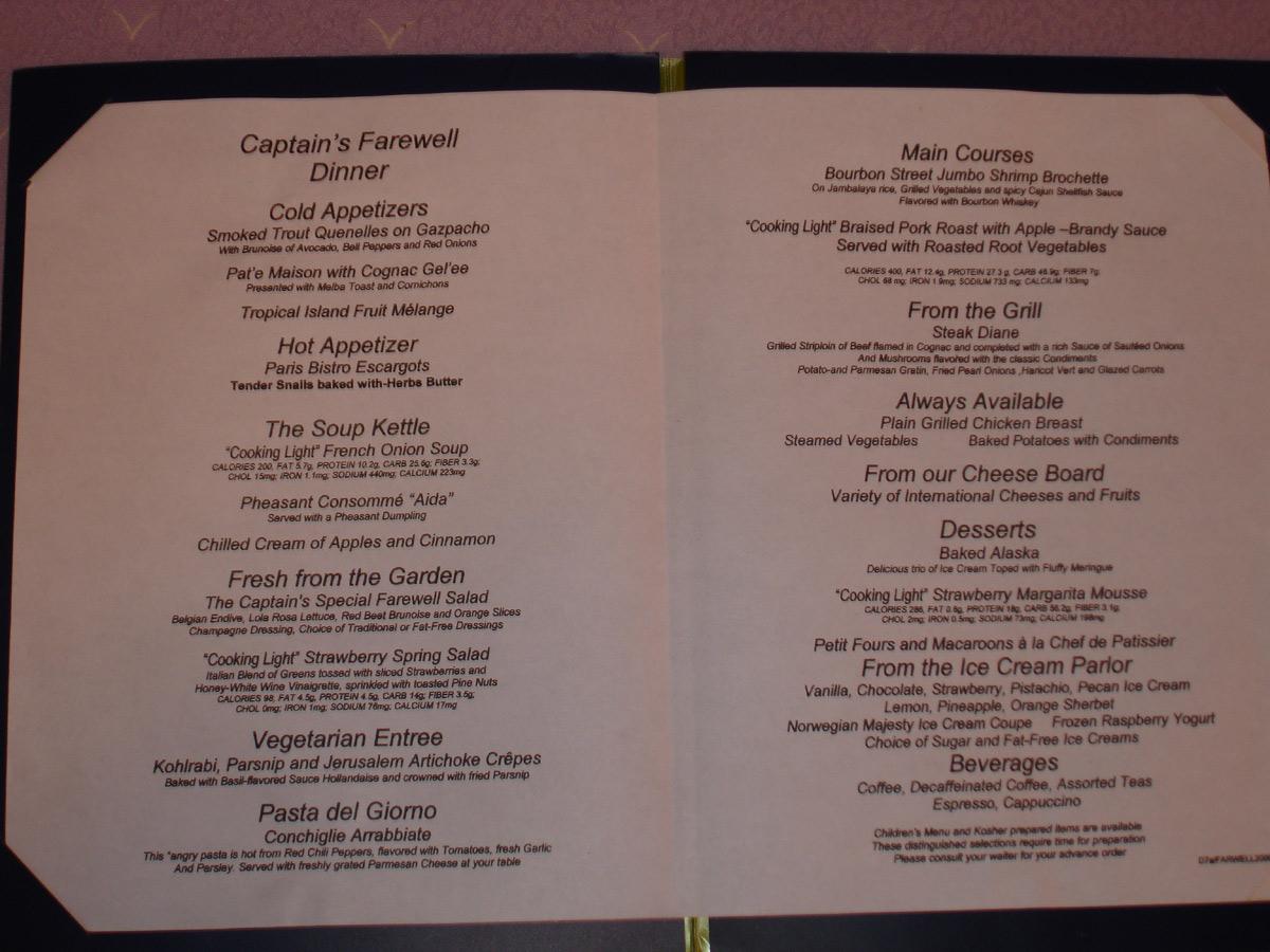 NCL Restaurant Menus 4 Cruise Critic Message Board Forums : menufri from boards.cruisecritic.com size 1200 x 900 jpeg 257kB