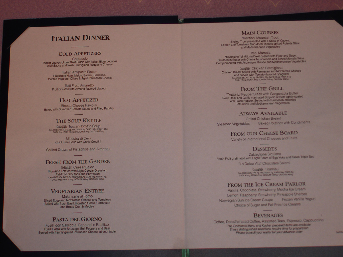 Disney Cruise Line Dining and Restaurants  Disney World